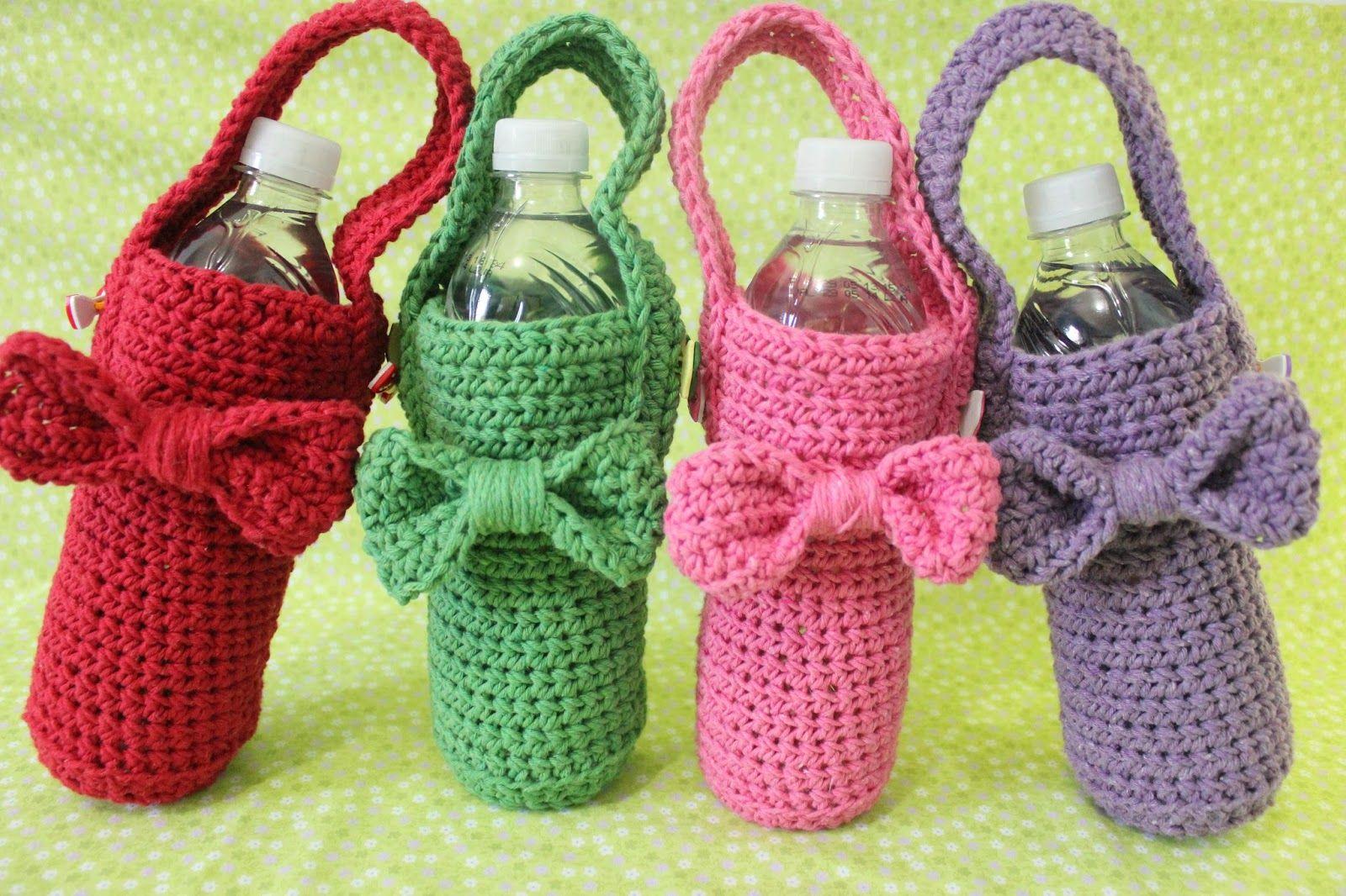 Carolina Crochet: Novidade: porta garrafa   корзинки   Pinterest
