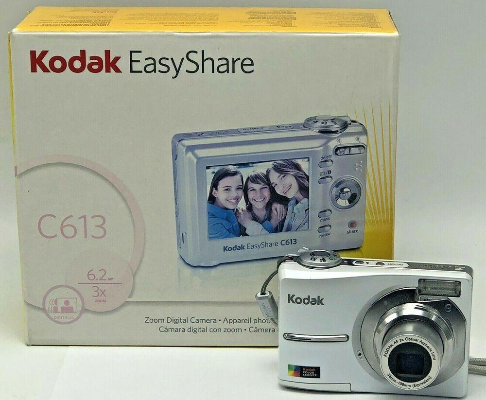 Kodak Easyshare C613 6 2mp Digital Camera White Manual Cord Disc Dock Insert Kodak Kodak Easyshare Digital Camara Kodak