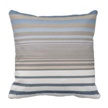 a simple design featuring alternating sized stripes with blue and soft tan khaki gradient color and