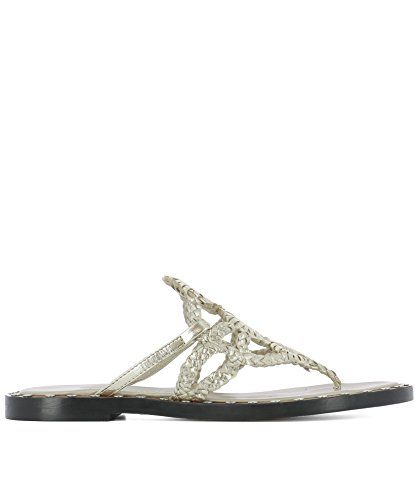 Pons Quintana Womens 5878dianametalplatino Silvergold Leather Sandals Find Out More About The Great Produc Gold Leather Sandals Gold Leather Leather Sandals