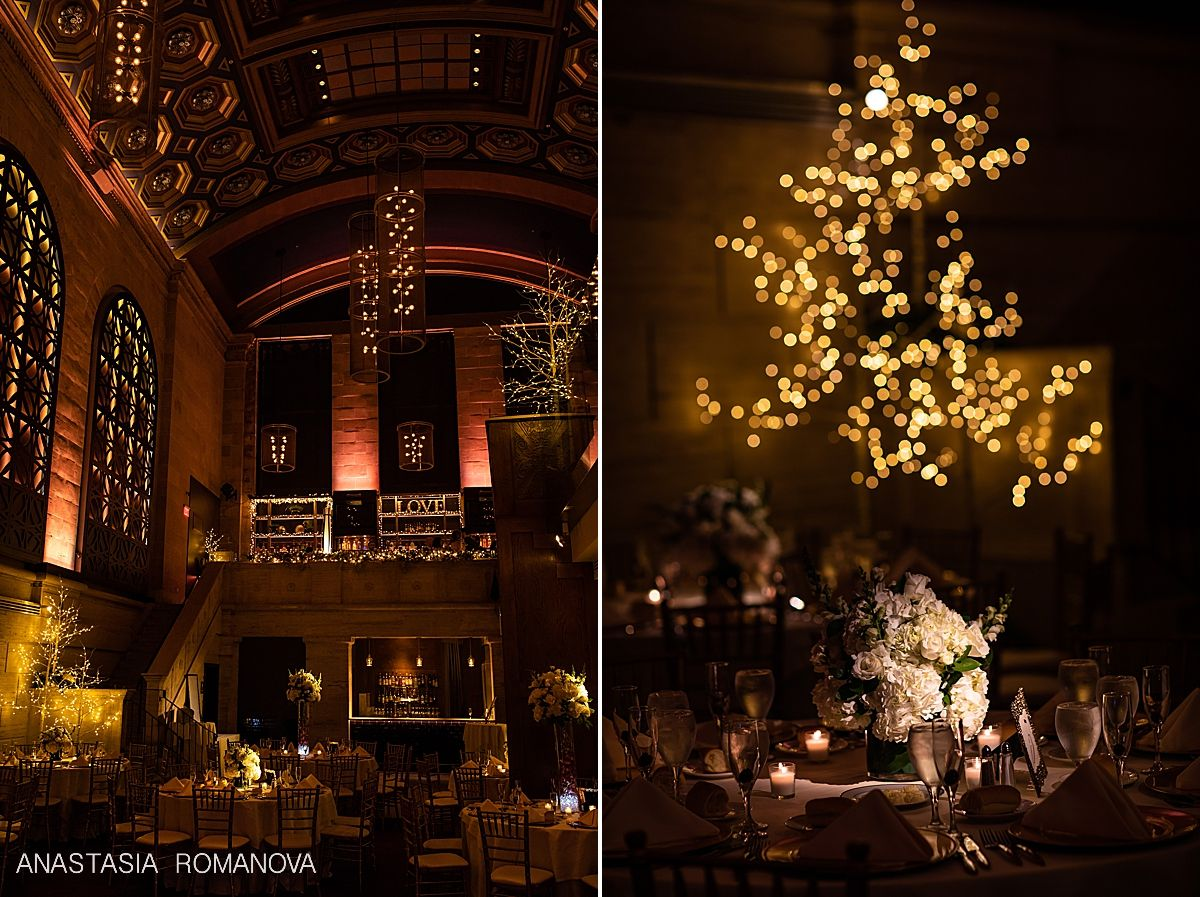 Union Trust Winter Wedding City Wedding Venues Philadelphia