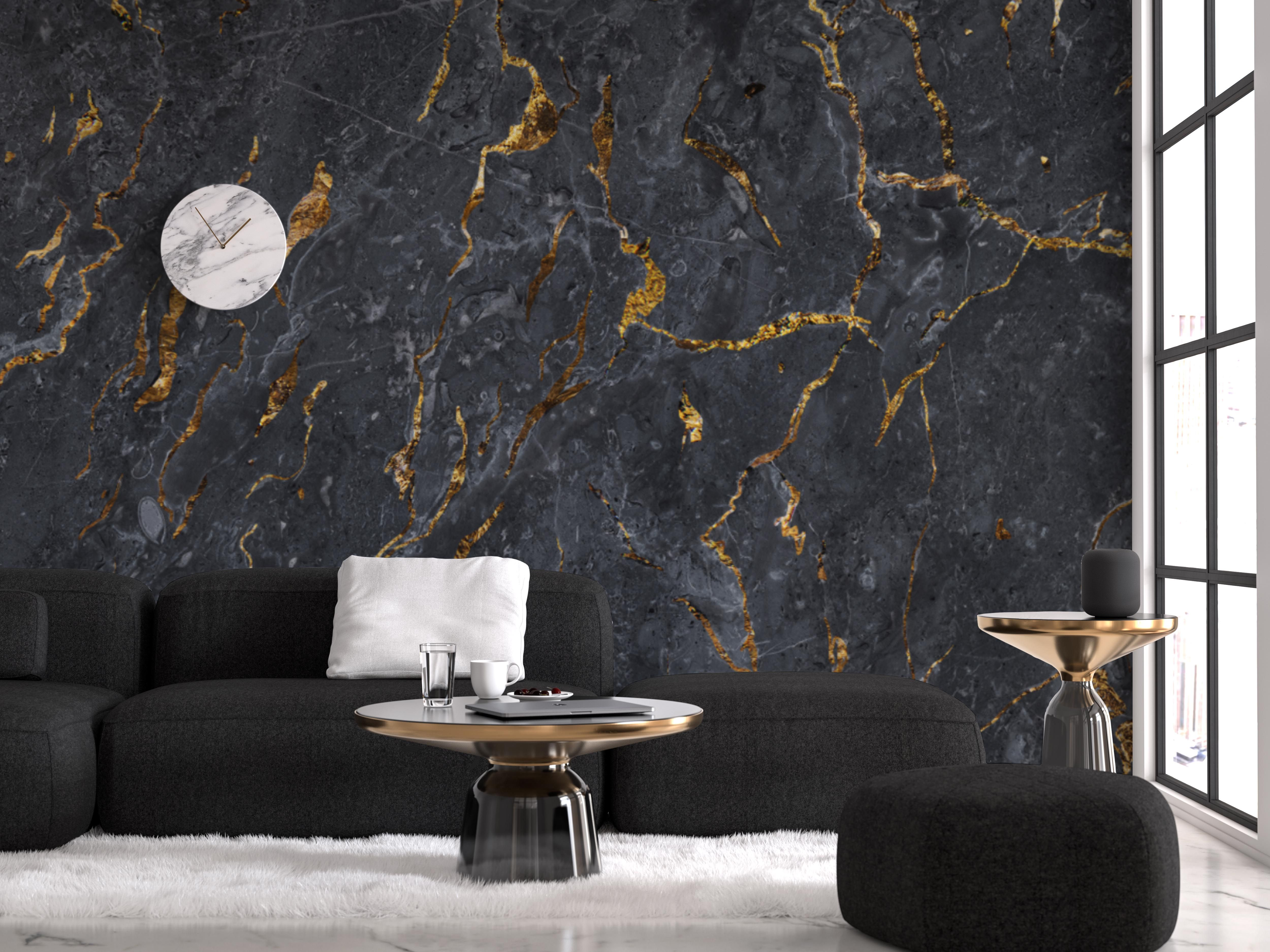 Black And Gold Marble Wallpaper Mural Gold Marble Wallp
