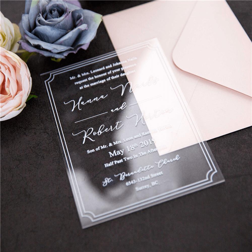 Sculptured Box UV Print Acrylic Card Acrylic wedding