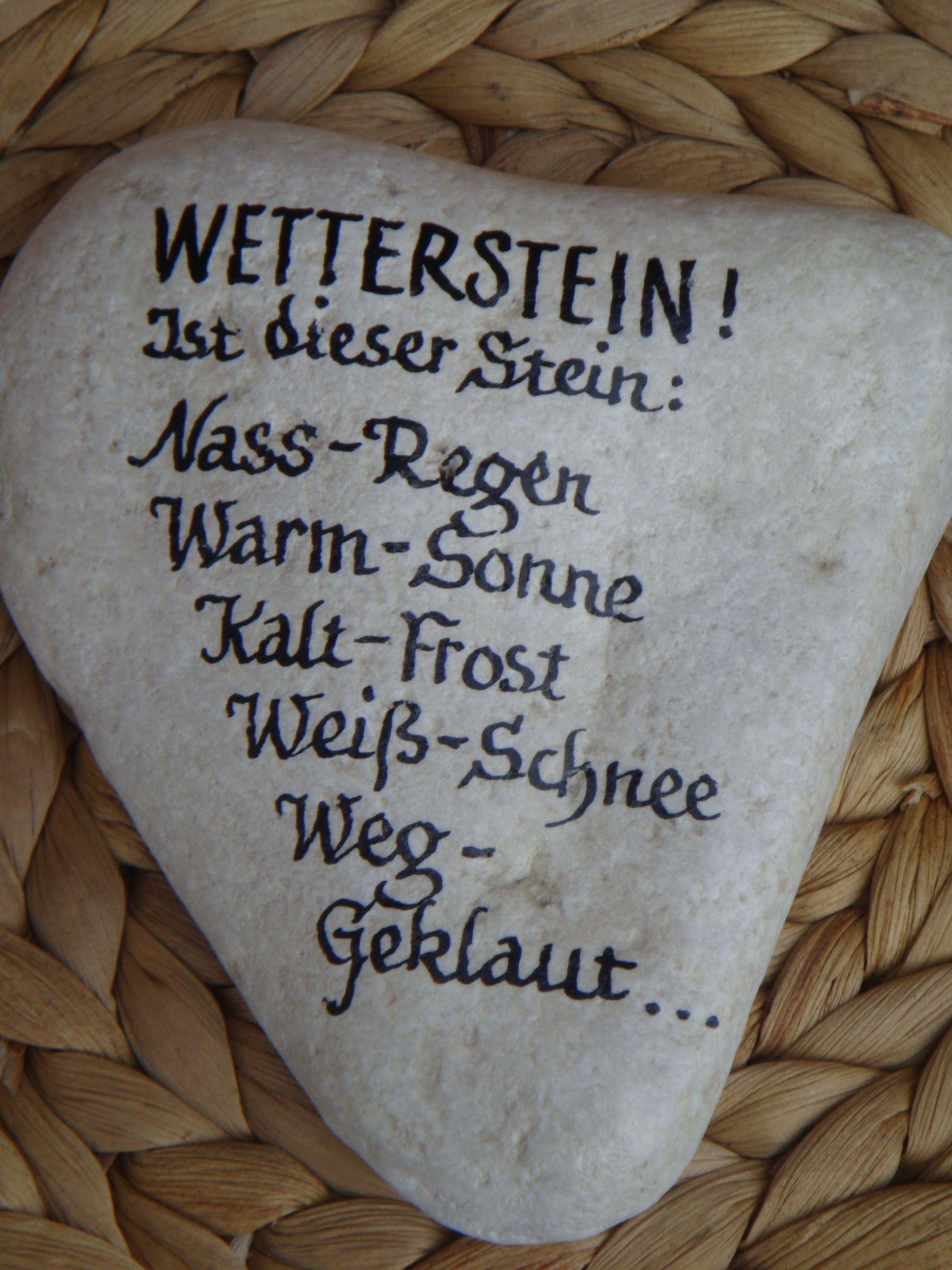 Stein Wetterstation Geschenke Basteln Garten Und