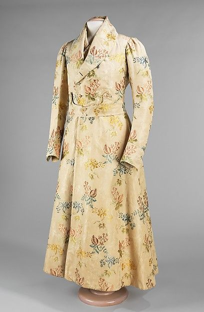 1820 French Silk A Banyan Is A Dressing Gown Worn By Men Derived