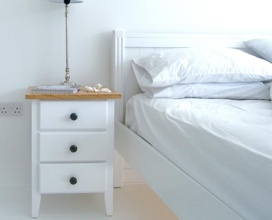 new england bedside table with drawers ash top