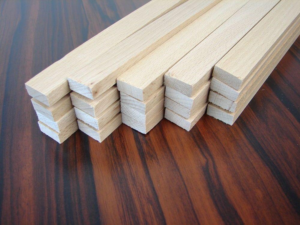 20 Rechteckleisten Buche 1150x20x9mm Holzleisten Bastelholz Leisten Holzstabe Holzleisten Stabchen Holz