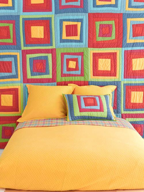Box in Box Quilt--click to get Get This Look! #PCHDreamSummerBedroom