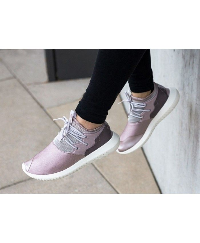 low priced bfd2e 9acce Adidas Womens Tubular Entrap W Grey Purple Shoes