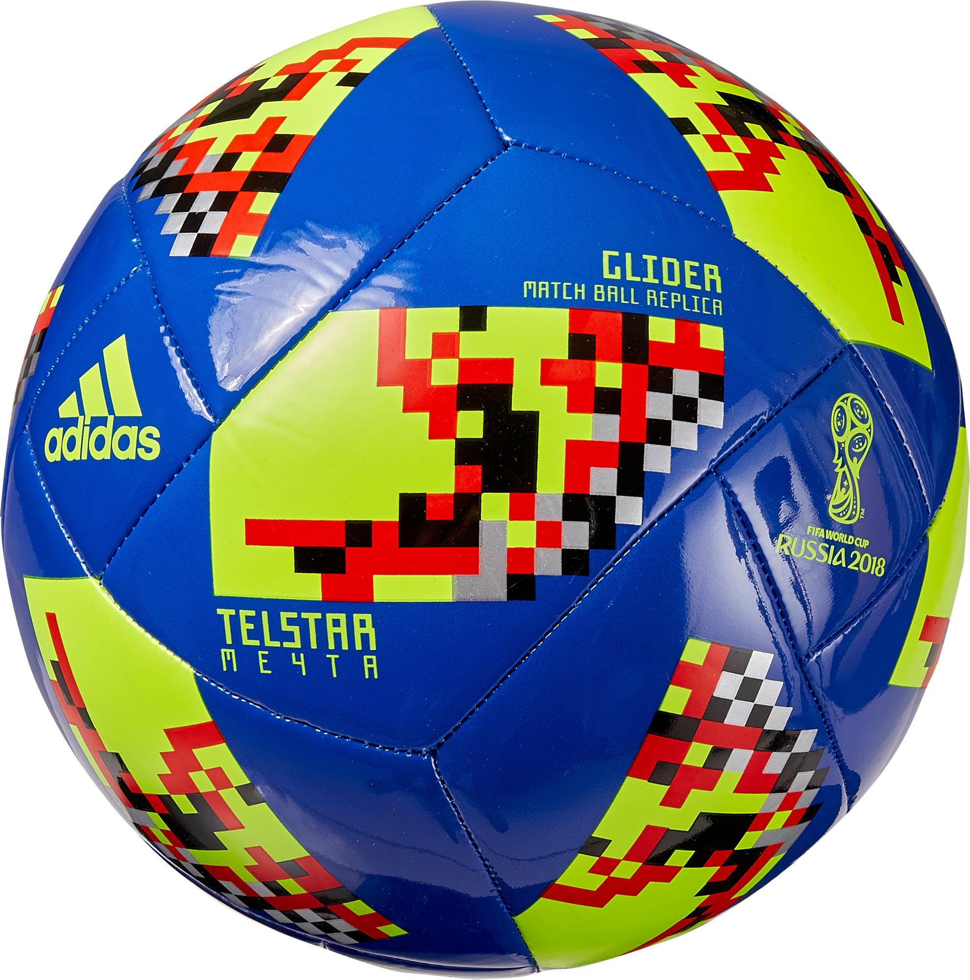 ed4d28d58 adidas 2018 Fifa World Cup Telstar Mechta Knockout Stage Glider Soccer Ball,  Blue