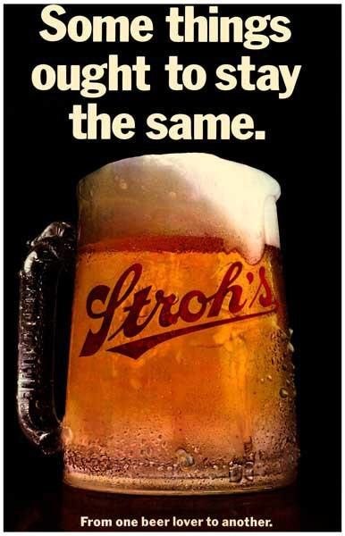 Strohs Beer Vintage Advertising Poster By VintagePosterPlace On Etsy