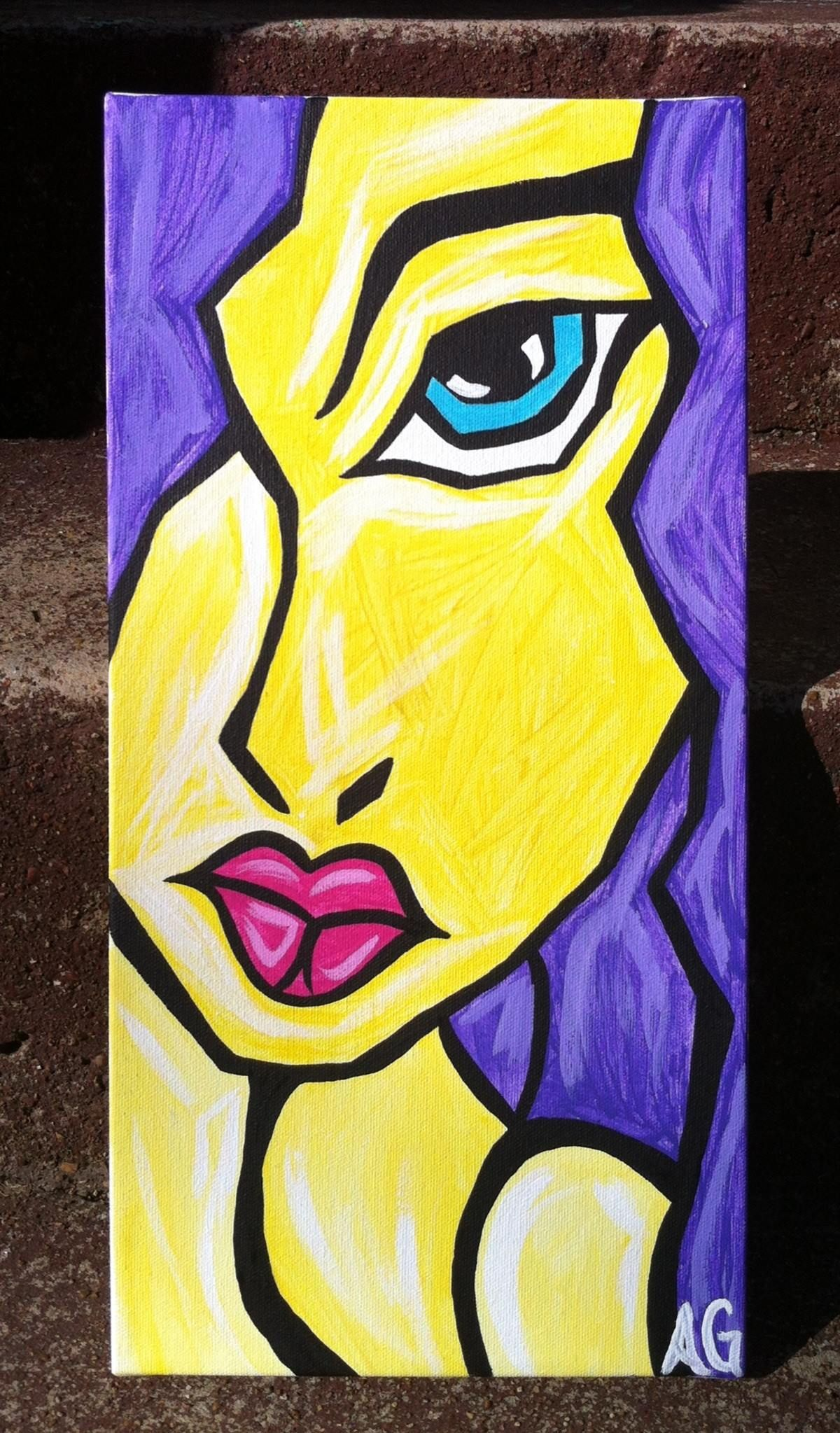 Girl abstract face painting