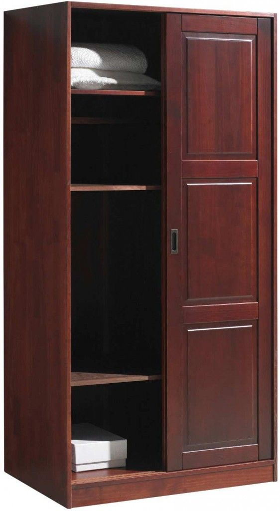 Discount Solid Wood Modern Armoire Wardrobe With Sliding Door And