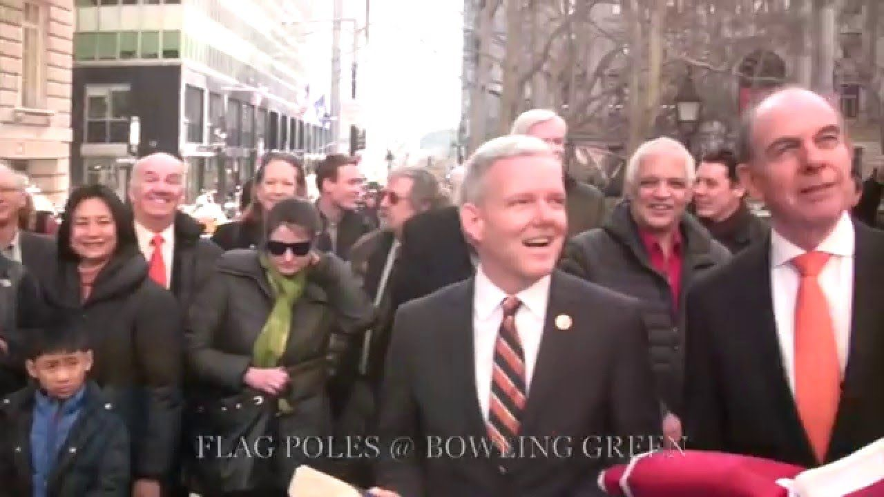 CELEBRATION OF ANNIVERSARY OF FOUNDING OF NEW AMSTERDAM WHICH BECAME NEW YORK CITY - AT BOWLING GREEN IN LOWER MANHATTAN ON FEBRUARY 2, 2016.