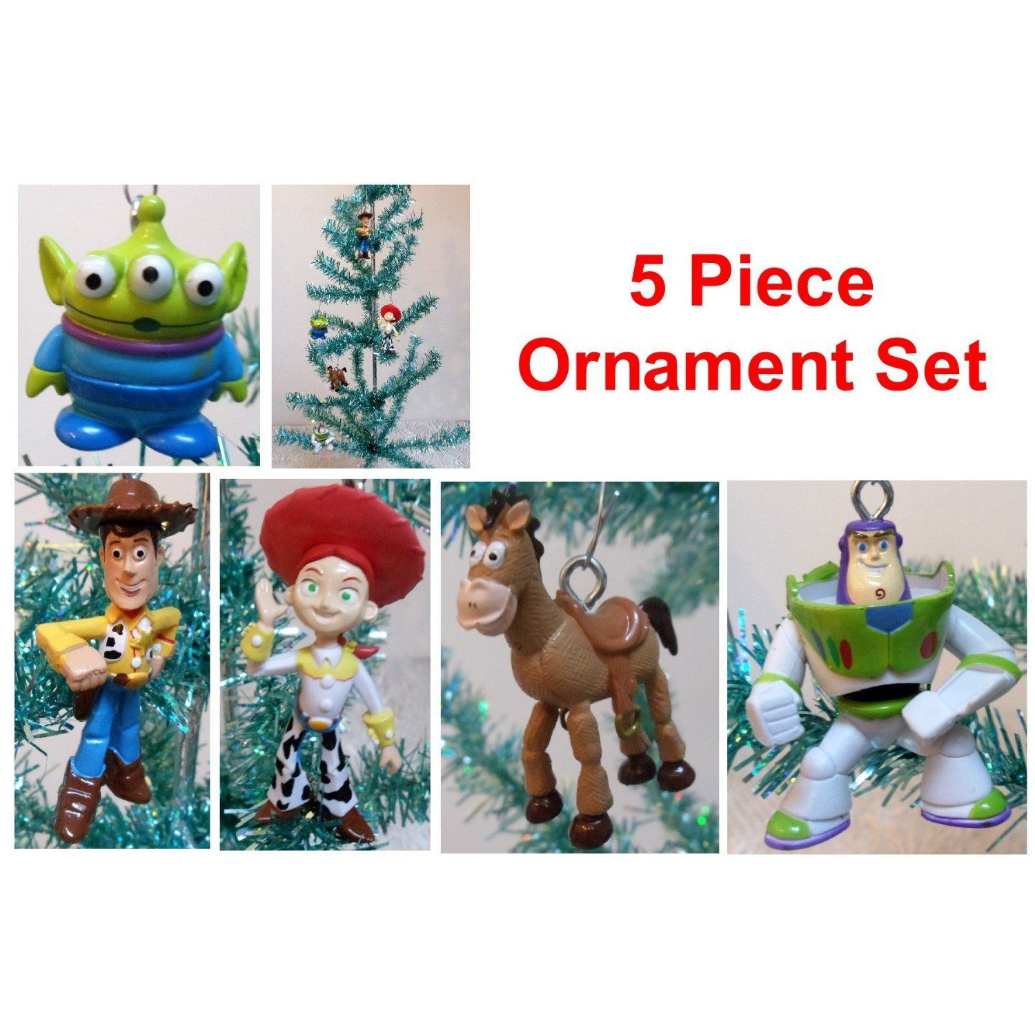 Toy Story 5 Piece Holiday Christmas Tree Ornament Set ...