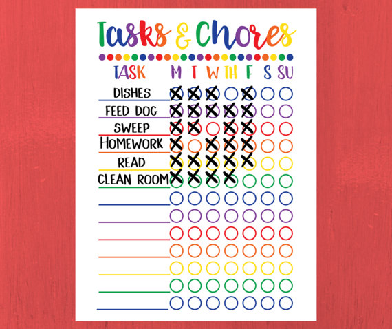 photo regarding Printable Responsibility Charts referred to as Chore Chart for Small children - Printable Accountability Chart