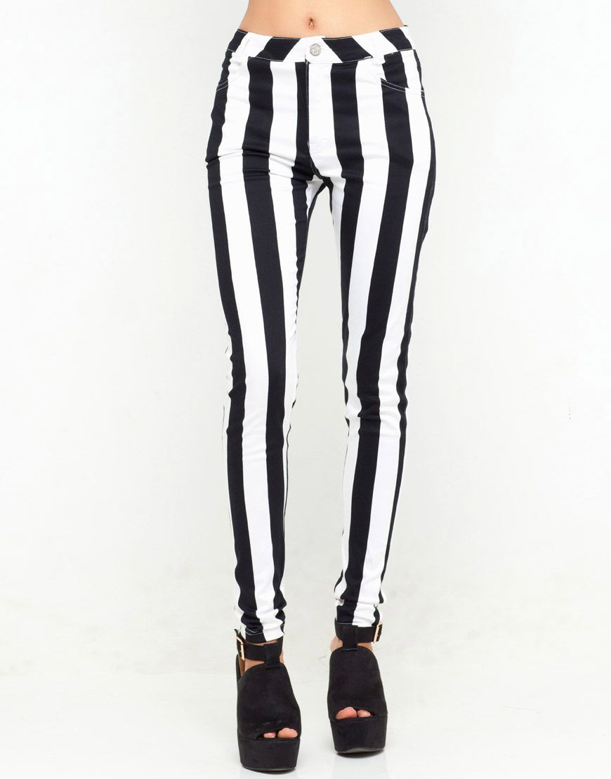 black and white jeans - Jean Yu Beauty