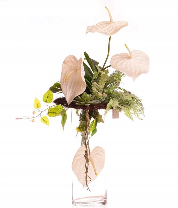 Anturium W Wazonie Kompozycja Sztucznych Kwiatow 7766855682 Oficjalne Archiwum Allegro Funeral Flower Arrangements Funeral Flowers Flower Arrangements