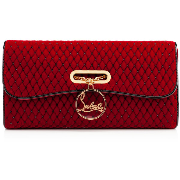 Christian Louboutin Riviera Capitonne Strass Clutch by None, via Polyvore