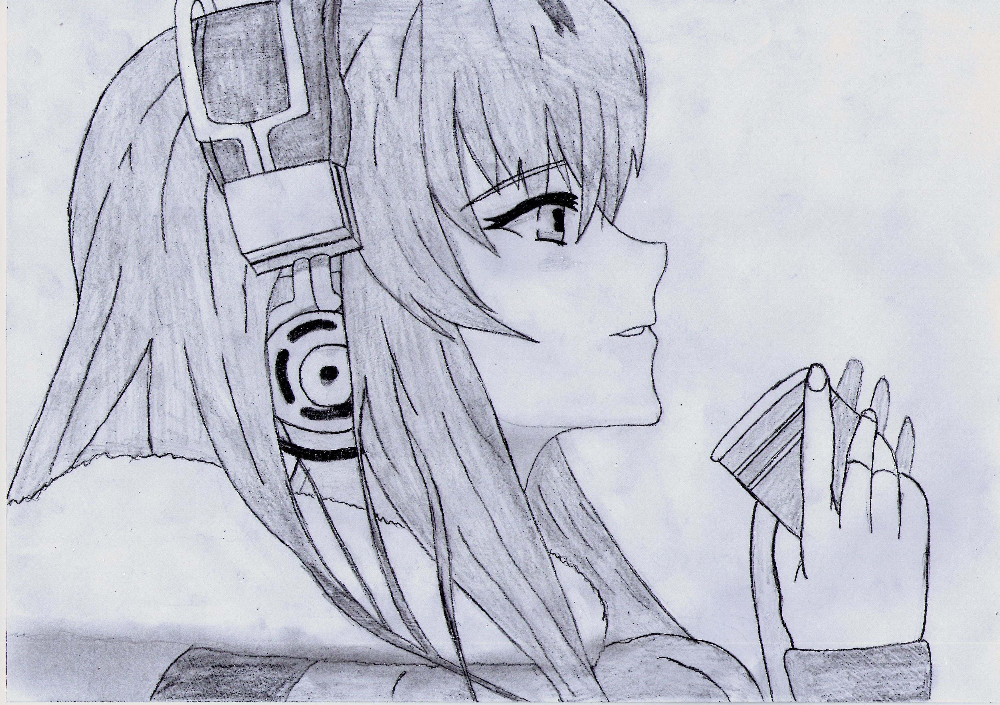 Uncategorized Anime Drawing Girl headphone anime girl drawing by 1dragonwarrior1 d8qc78x jpg mi sorry for the long pause exams and such hope you like it drawing