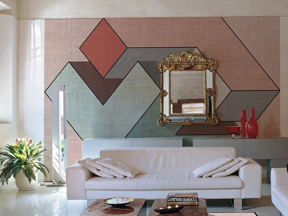 Geometric wallpaper with textile effect GENIUS Total Look Collection ...