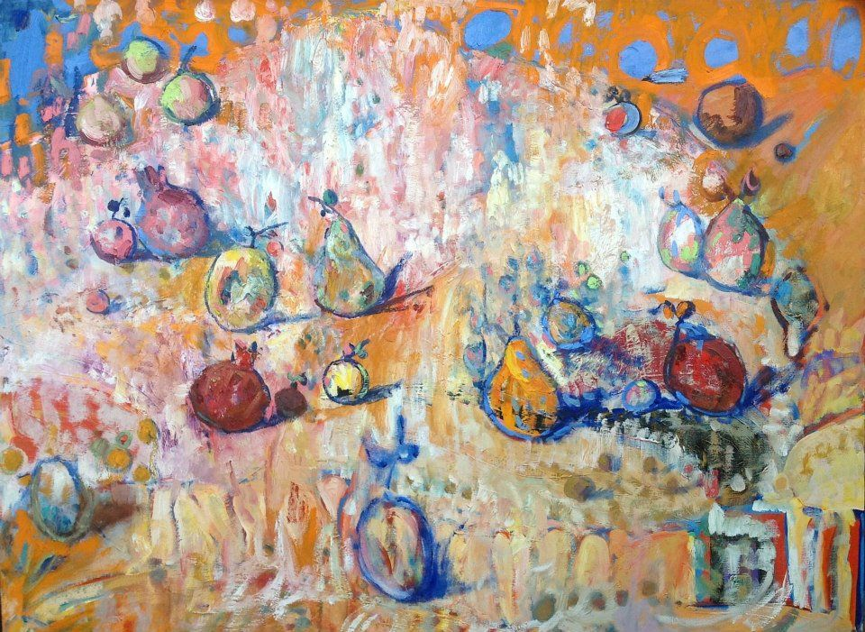 Amiraghyan Armen Fruits 2011 Oil on canvas 85  x  110  cm 1804.88 USD   http://www.hi-artonline.com/eng/gallery/fruits?currency=USD