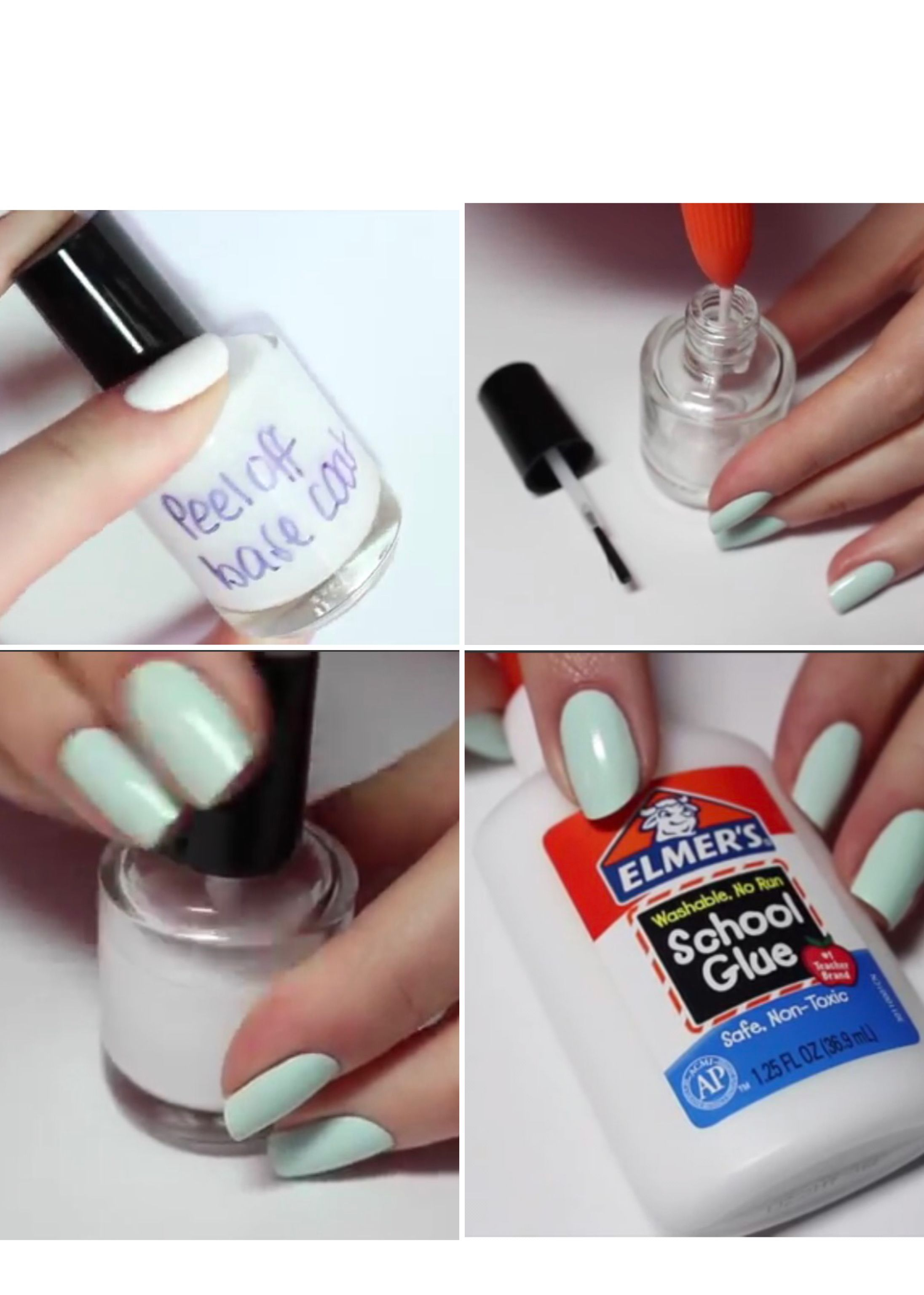 Use Elmers Glue In A Clean Nail Polish Bottle To Make Up Base Coat