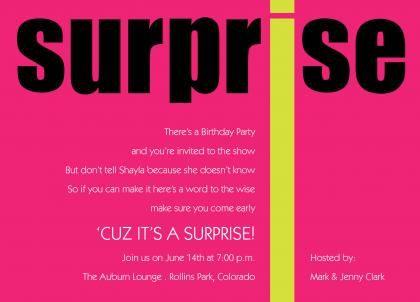 Nice Best Surprise Birthday Invitation Wording Ideas
