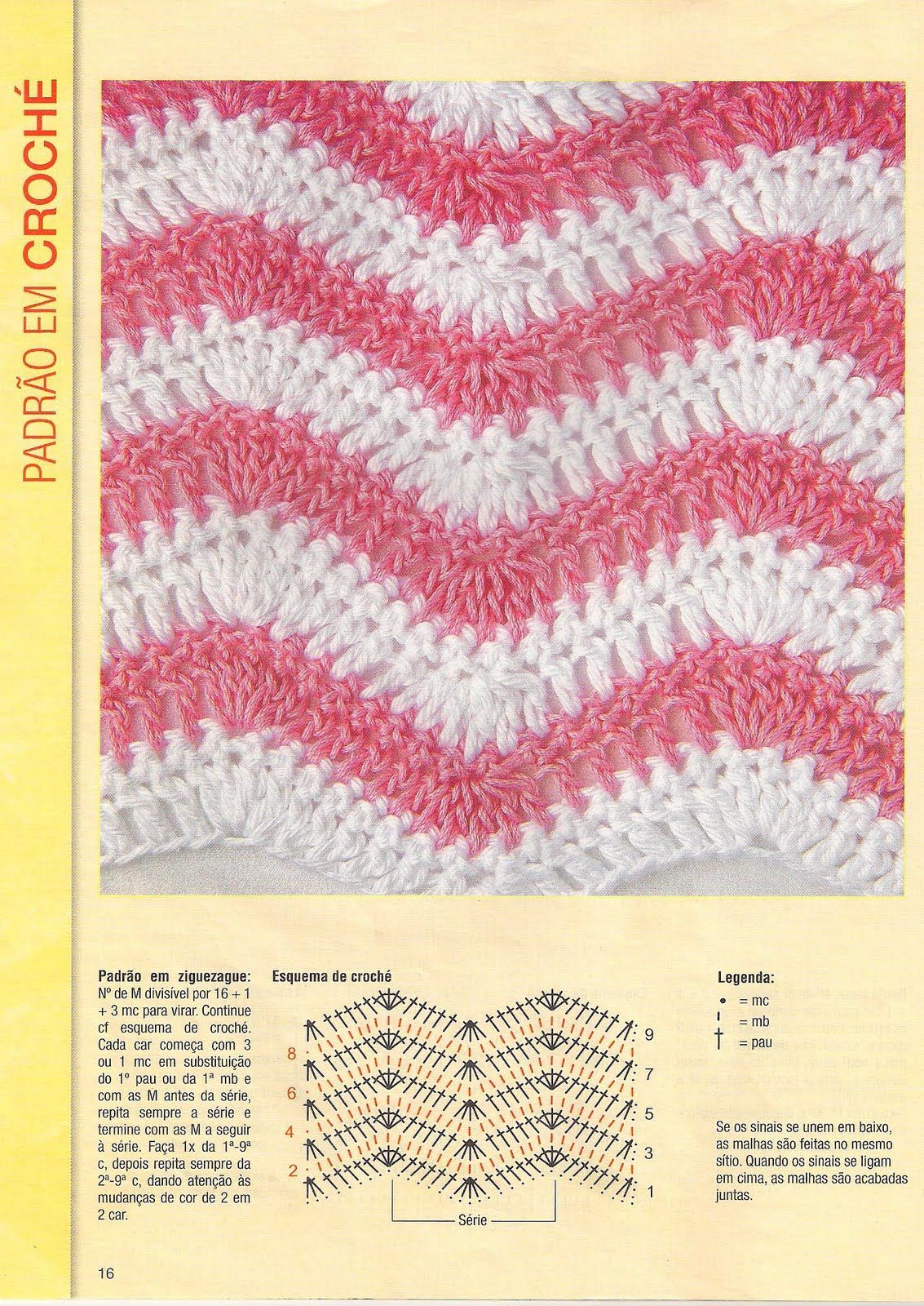 Vistoso Zig Zag De Crochet Patrón De Bufanda Composición - Manta de ...