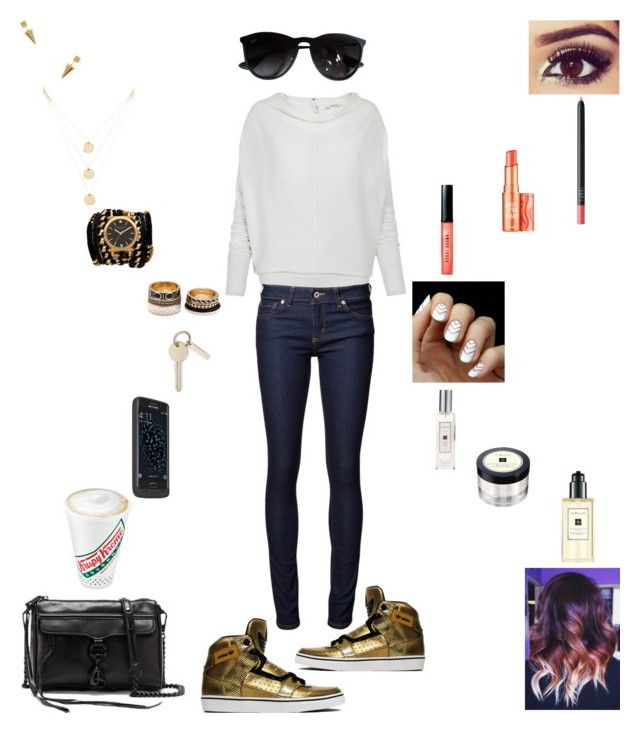 """""""Running Errands All Day w/ My BF"""" by shirokistune ❤ liked on Polyvore featuring Forever 21, Jeweliq, AllSaints, Naked & Famous, Sara Designs, adidas, Jo Malone, Mophie, Rebecca Minkoff and Benefit"""