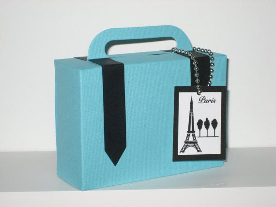 Themed suitcase party favors...the CUTEST!! She can customize any of her party favors to fit your needs! http://www.etsy.com/shop/favoritesbyglenda