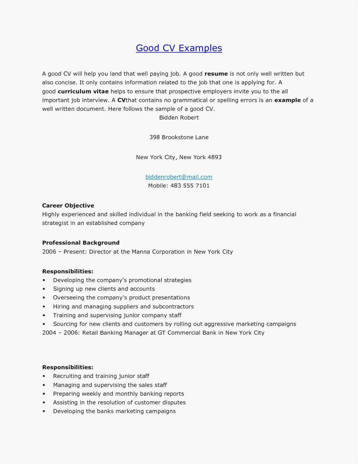 18++ Example resume and cover letter Format