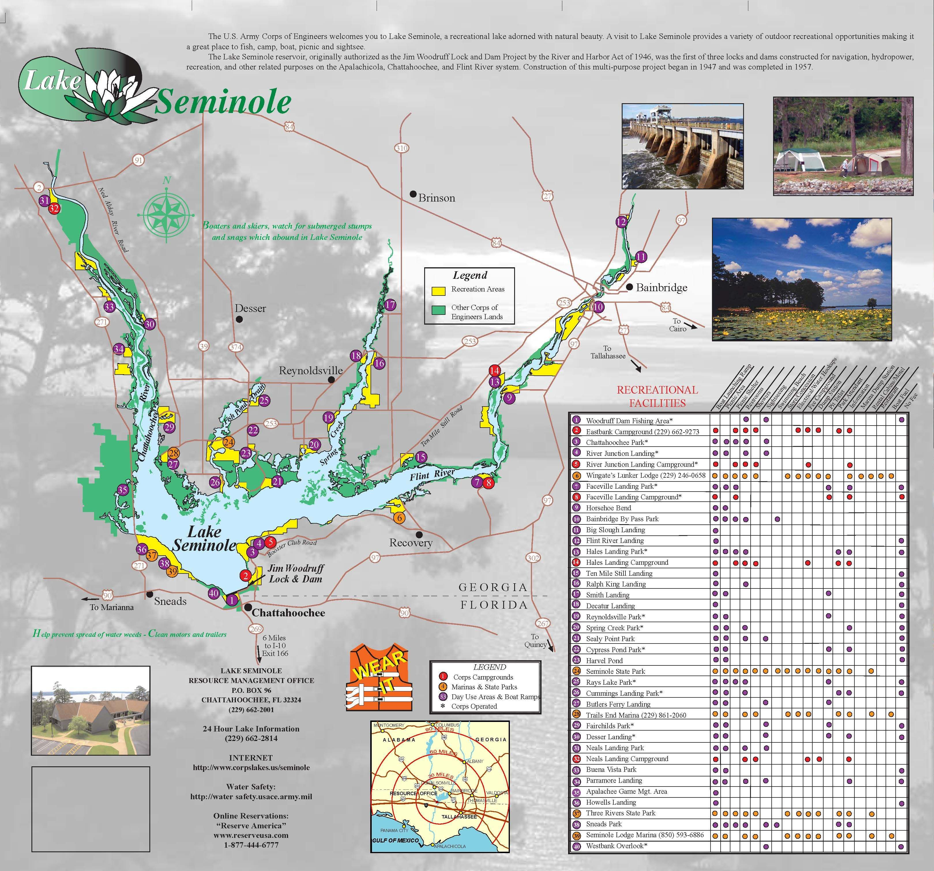 Lake Seminole Places Fish Camp Map Camper