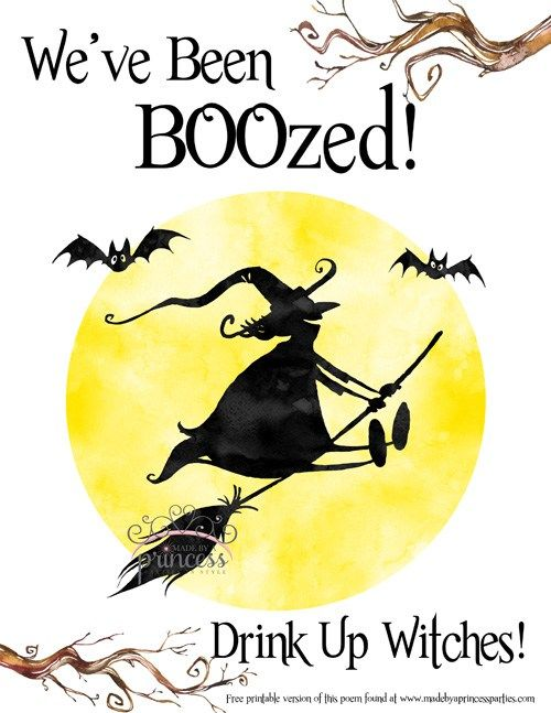 image regarding You've Been Boozed Printable titled weve been boozed indication - built as a result of a princess Halloween