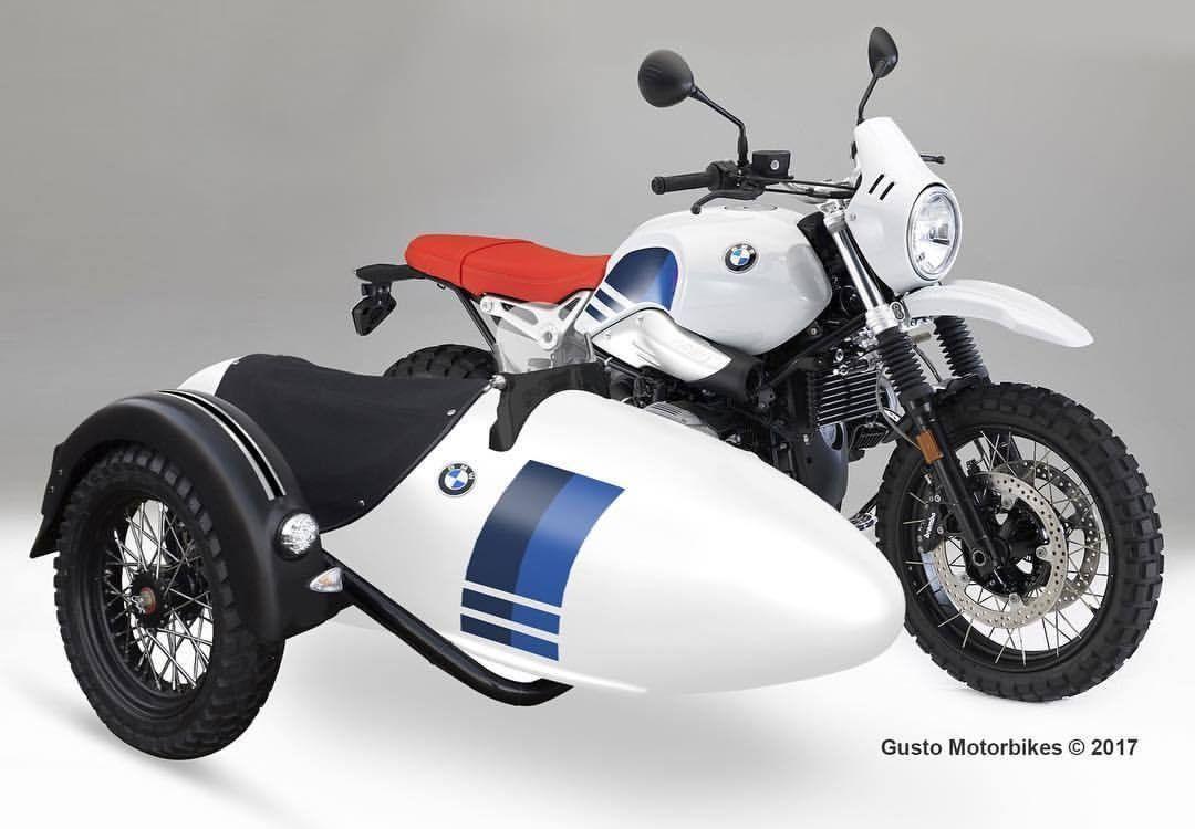 BMW R Scrambler with sidecar by Gusto Motorbikes
