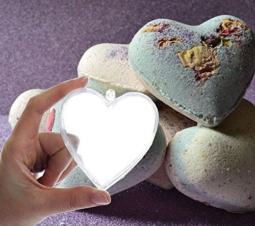 Tyoungg Plastic Heart Shape Bath Bomb Mold 5 Sets (80mm h…