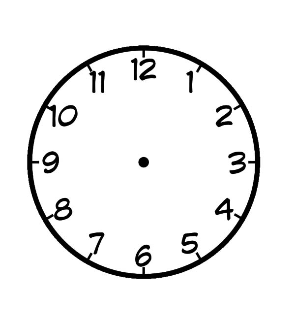 Blank Clock Coloring Pages Best Place To Color Blank Clock Blank Clock Faces Clock