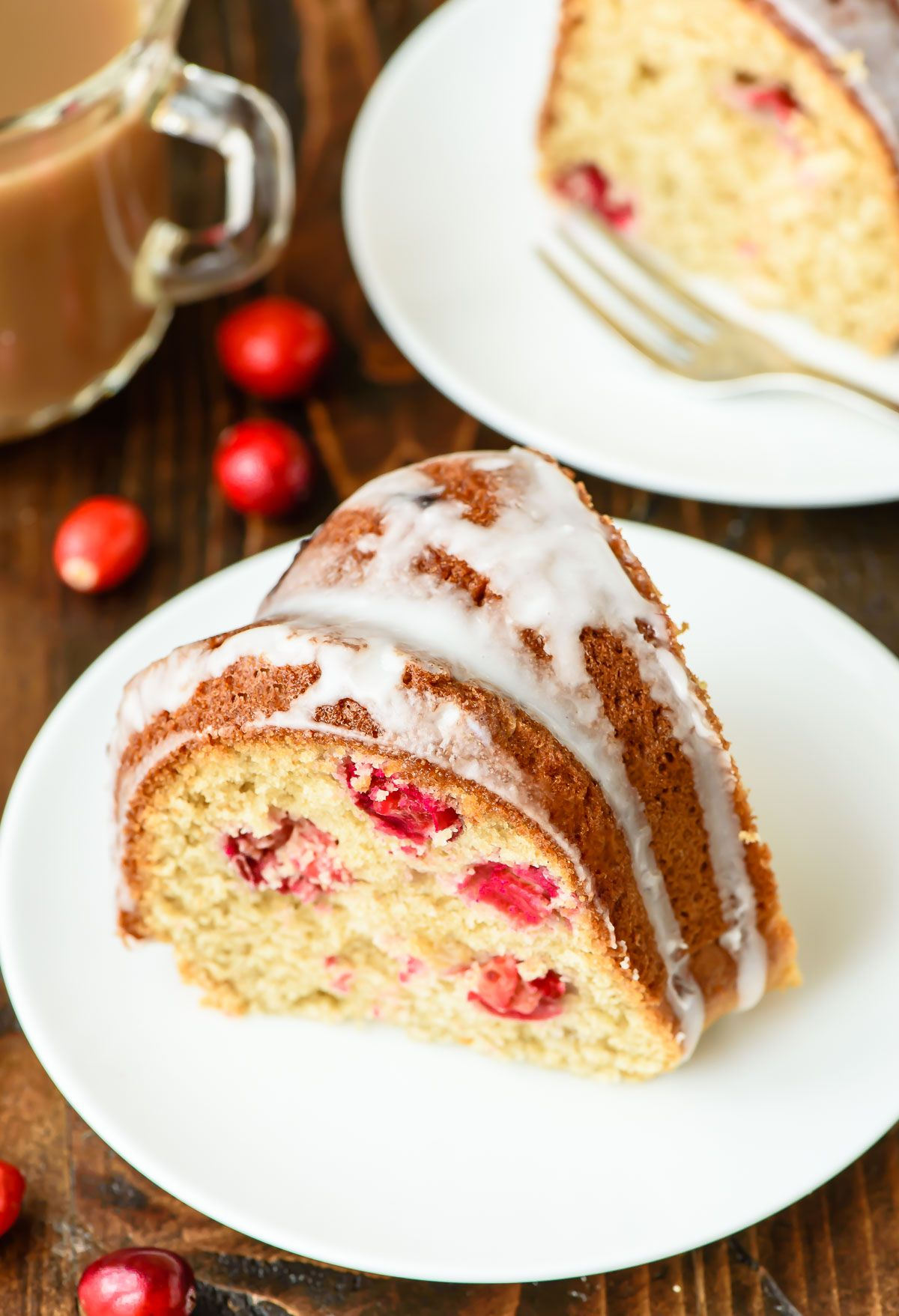 Cranberry Sour Cream Coffee Cake. Moist and tender just