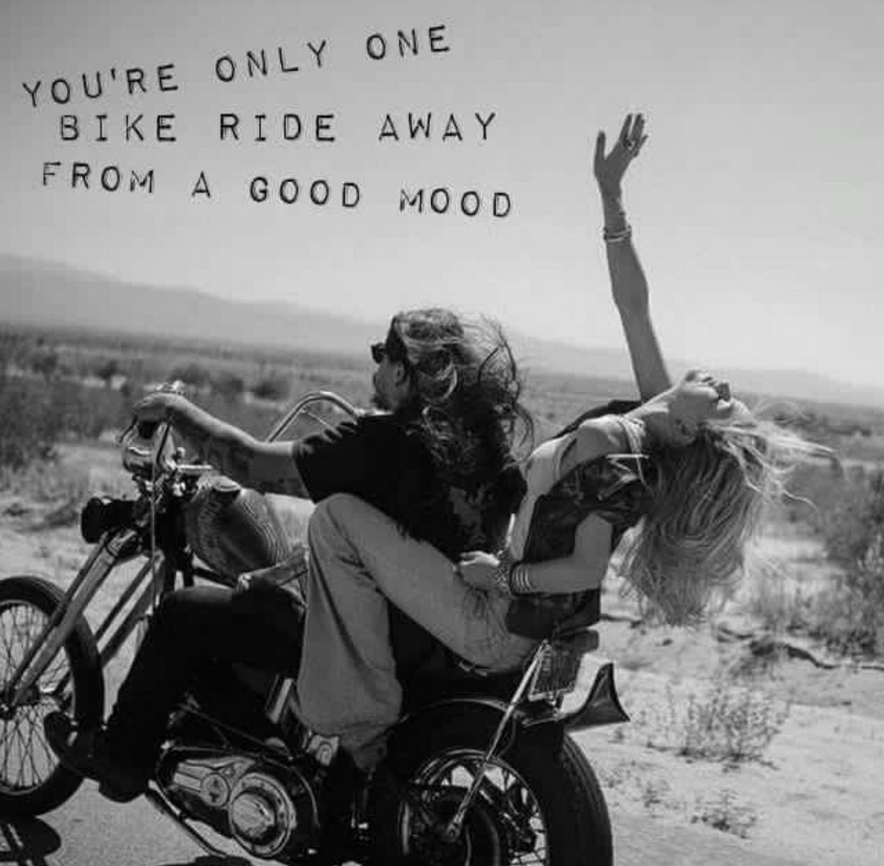 One Ride From A Good Mood Biker Quotes Biker Love Riding Quotes