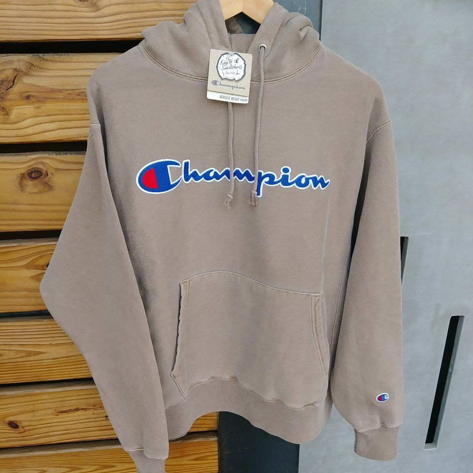Champion Reverse Weave Hoodie RARE pigment dye NEW WITH TAGS!! Oversized  sleeves modern fit Don t sleep on this one - Depop 210956a53