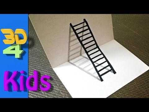 How To Draw 3d Cellar Stairs Step By Step 3 Youtube Easy 3d Drawing Illusion Drawings 3d Drawings