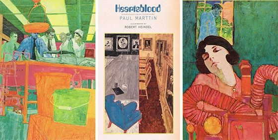 series of illustrations Robert Heindel painted for Reader's Digest Condensed Books in 1970