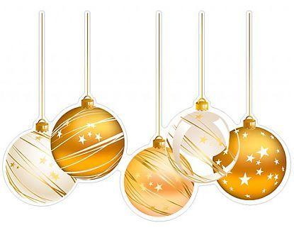 Stickers de vinilo navidad bolas navide as 5 01995 gym - Bolas de navidad doradas ...