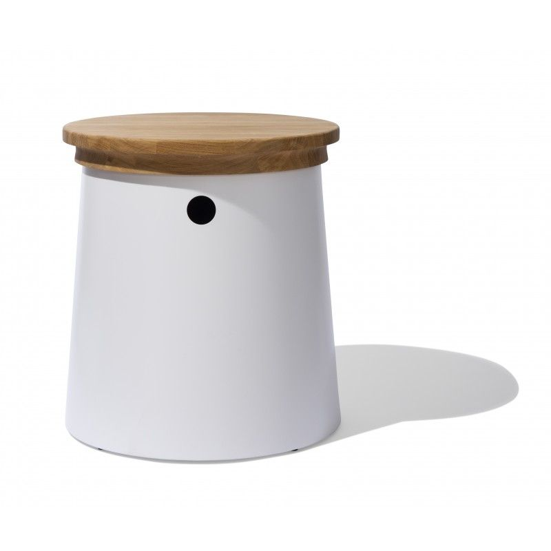 Drum Storage Stool U2014 The Drum Storage Stool Is Characterized By A Dynamic  Combination Of Solid Oak And Lacquered Stainless Steel.