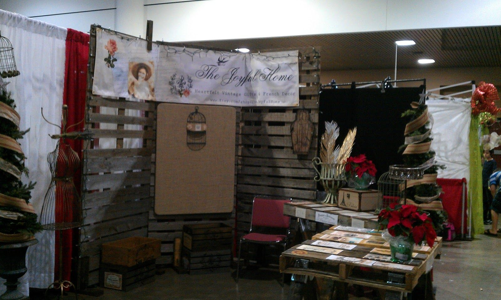Christmas Craft Booth Ideas Part - 45: Christmas Craft Fair Booths | ... Home: My Shabby French Market Craft Show