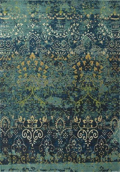 karastan intermezzo vintage ballroom deep teal area rug