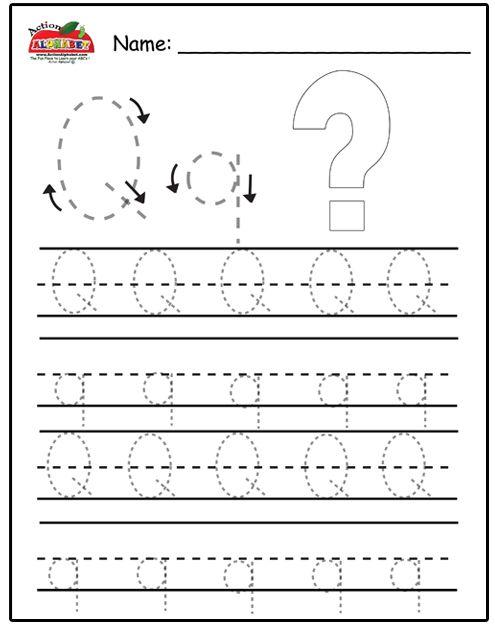 Printable Letter Q Coloring Pages : Free prinatble aphabet pages ~preschool alphabet letters trace