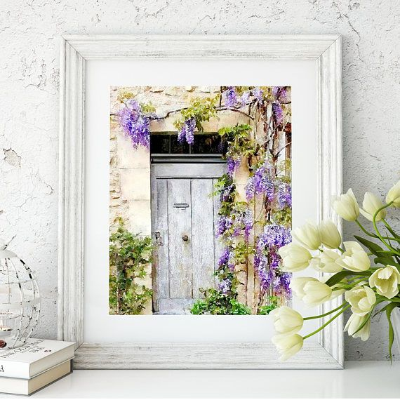 #Wisteria #FrenchCottage #FrenchCountry French Country Cottage in Provence: Lavender Floral Art