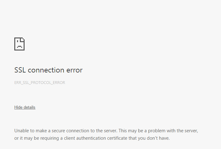 Easy And Quick Method To Fix Ssl Connection Error Or