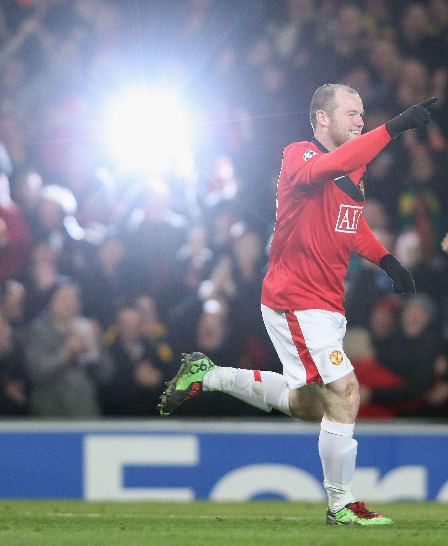 Lighting The Way Manutd Forward Wayne Rooney Receives The